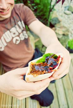 Pulled Pork Pittas on Things{we}make by Claire Sutton, via Flickr