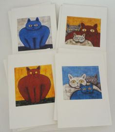 For the cat lover! Blank Cat Greeting Cards Kevin Snyder Artist Notecards, Stationary Set #eBay #catlover #giftideas