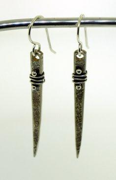 Fork Tine Earrings  vintage fork tine earrings by KathrynRiechert, $28.00   - handmade - jewelry - jewellery - fashion - earrings