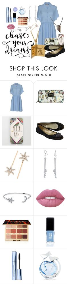 """Second Star to the Right"" by aisling-kells ❤ liked on Polyvore featuring Twenty Easy By Kaos, Jimmy Choo, Jennifer Behr, Disney, Bling Jewelry, tarte, JINsoon, Estée Lauder, Thierry Mugler and The Gypsy Shrine"
