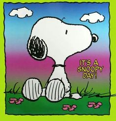 It's a Snoopy day!