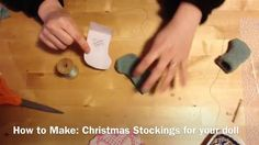 How to make doll stockings from old sweater or felt-- American Girl Doll size
