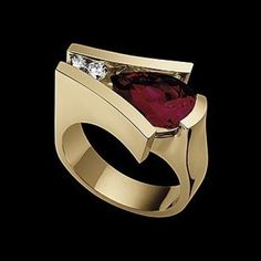 Looking for engagement rings in Denver? Look no further than John Atencio. One of Colorado's finest Denver Jewelers and curators of designer jewelry. Diamond Shop, Pear Diamond, Jewelry Rings, Jewelery, Garnet Rings, Ruby Rings, Ring Watch, Fashion Rings, Ring Designs