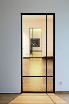 Hall Door from Kitchen to Hall 1 Steel Frame Doors, Steel Doors And Windows, Aluminium Doors, Front Door Design, Iron Doors, Internal Doors, Deco Design, Glass Door, Home And Living