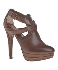 Look what I found on #zulily! Maxstudio.com Brown Amiee Leather Pump by Maxstudio.com #zulilyfinds