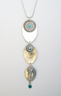 Necklace of spoons by SirpaReDesign on Etsy, kr300.00
