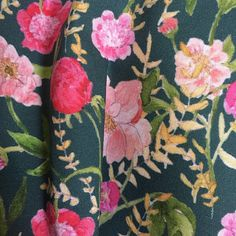 Floral fabric, petite peony fabric from the Wallflower collection, is the only one released so far!
