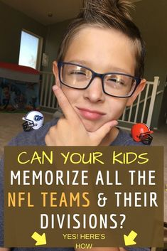 Can Your Kid Memorize All the NFL Teams & Their Divisions? #americanfootballtipsforkids