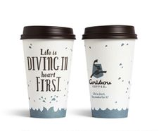 Coffee Cups Feature Inspiring Messages About Life - DesignTAXI.com