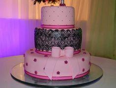 Wedding Cake, pink & black