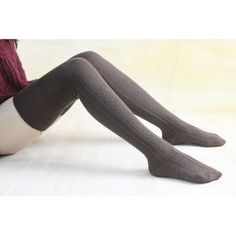 Starsocks Brown Warm Winter Legwear Knit High Boot Socks Thigh High... ($12) ❤ liked on Polyvore featuring intimates, hosiery, socks, black, leg warmers, women's clothing, knit leg warmers, knit knee socks, knee high socks and knit socks