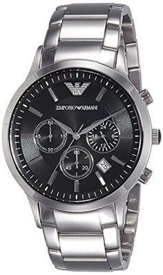 """AR244 – Classic Watch       Famous Words of Inspiration...""""Ah, yes, divorce...from the Latin word meaning to rip out a man's genitals through his wallet.""""   Robin Williams — Click here for more from Robin... more details available at https://perfect-gifts.bestselleroutlets.com/gifts-for-men/product-review-for-emporio-armani-classic-chronograph-watch/"""