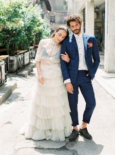 Eclectic Urban Love Affair in Athens – ellwed Wedding Planner, Destination Wedding, Two Piece Wedding Dress, Urban Looks, Greece Wedding, Groom Wear, Bridesmaid Dresses, Wedding Dresses, Love Affair