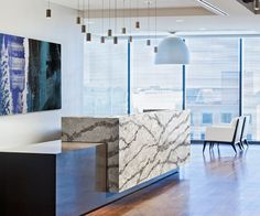 Exclusively ours, the veining movement and variations within our Coastal Collection™ complement any office space. Consider Seagrove™ for your next renovation. Quartz Countertops, Kitchen Countertops, Cambria Quartz, Design Palette, New Kitchen, Kitchen Remodel, Design Inspiration, House Design, Counter Top