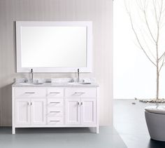 Dior Double Bathroom Vanity Set In Zebra Grey Bathroom Reno - 66 inch bathroom vanity for bathroom decor ideas