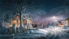 Winter Wonderland - 2006 Holiday Edition Print  by Terry Redlin