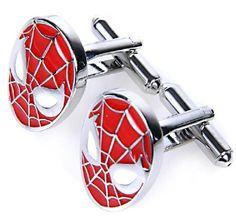 Ankin Classic Spiderman Cuff Links Cufflinks (Red) |  Read more at http://www.arifirst.com/2013/06/27/ankin-classic-spiderman-cuff-links-cufflinks-red/