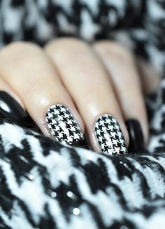 Pied-de-poule ! - houndstooth stamping nails - BP-L013