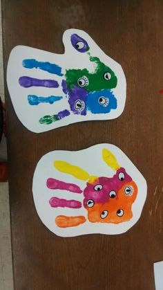 Handprint monsters!