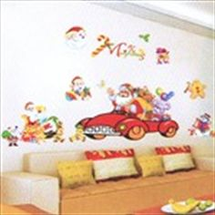 DIY Decorative Wall Paper Art Sticker Mural Decal Sticking Decor Wallpaper- Merry Christmas Theme Merry Christmas, Christmas Themes, Kids Bedroom, Decorating Your Home, Toy Chest, Paper Art, Home Accessories, Decals, Wall Decor