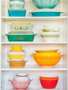 Pretty Pyrex display