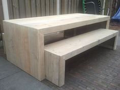 Beautiful scaffolding wooden table and benches made #beautiful #benches #pallet... - #beautiful #benches #scaffolding #table #wooden - #Genel