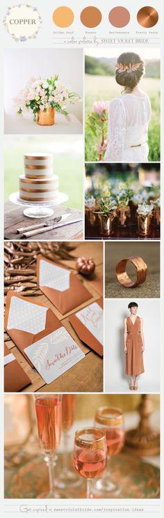 Copper Wedding Color Palette by SVB