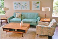 #Mid_century modern Living Room Decor