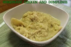 Homemade Chicken & Dumplings - a classic dish perfect for the colder nights! #chicken #dumplings #dinner #soup