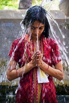 Girl at Rameswaram Temple , India