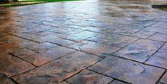 Stamped Concrete, outdoor, drive way, decorative concrete
