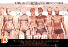 Body lighting variation steps tutorial pack (term 38) | Sakimi Chan on Patreon