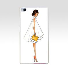 42GV Bloom coffee Female Lady Hood  Gift  Hard Transparent Cover for Huawei P7 P8 P8 P9 P10 Lite y5 ii Honor 4C 5C 6 7 8 & Nova
