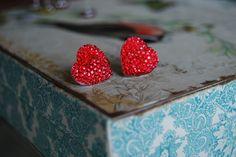 Ruby Slipper Heart Earrings by Kurrajong Polo Co
