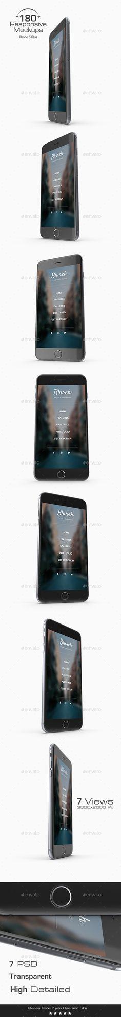 180 Responsive 3D Mockup - iPhone 6 Plus. Download here: http://graphicriver.net/item/180-responsive-3d-mockup-phone-6-plus/16493940?ref=ksioks