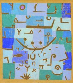 Paul Klee, Legend of The Nile,1937 on ArtStack #paul-klee #art