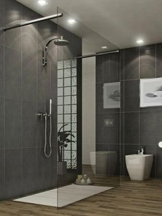 Modern Tile Designs For Bathroom Bathrooms With Glass Shoewring Room Design Ideas With Bright Lighting With White Tiles Showing Magic Highlight with Proper Tile Shower Ideas Bathroom Tiles Images, Grey Bathroom Tiles, Bathroom Trends, Modern Bathroom, Timeless Bathroom, Bathroom Designs, Bathroom Ideas, Dining Room Furniture Design, Bad Styling