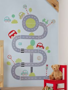 The Gro Company All Aboard Height Chart Sticker Set An adorable transport themed growth chart Create a fabulous feature in any roomPlot your child s