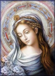 Santa María, Madre de Dios y Madre nuestra: El sol de una estrella Blessed Mother Mary, Blessed Virgin Mary, Catholic Art, Catholic Saints, Religious Icons, Religious Art, Hail Holy Queen, Vintage Holy Cards, Mother Pictures