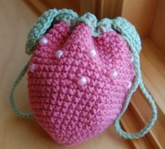Sweet Strawberry Purse in Rose Pink for Girls by stayhomecupcake, $13.00
