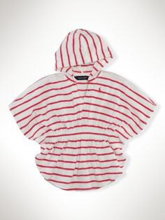 Poncho Cover-up. Easy on, easy off. Great for the hot springs in the winter and for the pool or beach in the summer. Size 12 months, so she can wear next year summer
