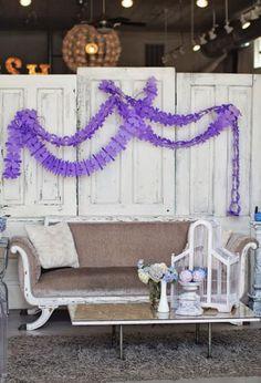 Hydrangea Garden Birthday Party via KarasPartyIdeas.com #hydrangea #birthday #party #idea