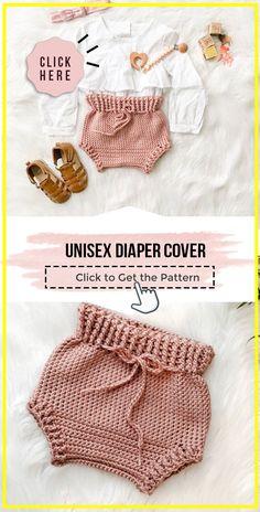 Crochet Baby Pants, Baby Girl Crochet, Crochet For Boys, Crochet Clothes, Booties Crochet, Crochet Blanket Patterns, Baby Patterns, Crochet Stitches, Crochet Baby Cardigan Free Pattern