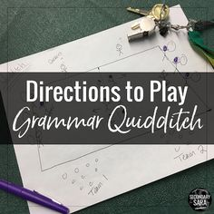 How to Play Grammar Quidditch   SECONDARY SARA