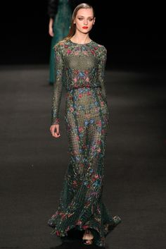 Monique Lhuillier fall/winter 2015 collection - New York fashion week