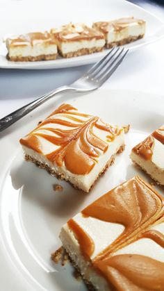 {Healthy, Vegan and GF-adaptable} These rich, creamy peanut butter swirl cheesecake bars are a decadent-tasting dessert-- but they're healthier than your average cheesecake recipe!