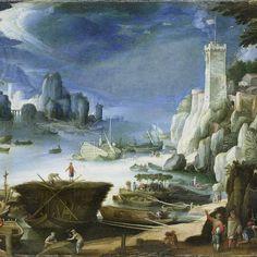 River view wit Large Rock, Paul Bril, 1601 - Rijksmuseum