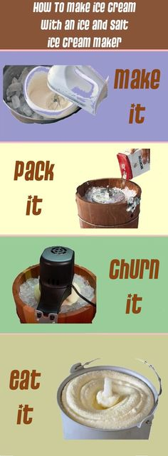 Whether using a hand crank or electric machine, making ice cream with an ice and salt ice cream maker yields some smooth and creamy results.  Just make it, pack it, churn it then eat it!