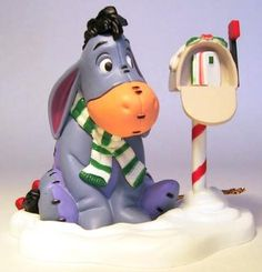 Eeyore at his letterbox ornament (Grolier) from Fantasies Come True