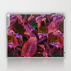 Dark Leaves Laptop & iPad Skin